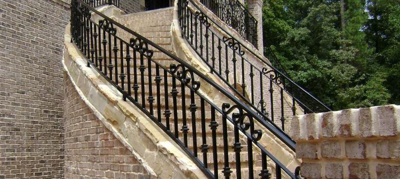 barandal para escalera hierro forjado en monterrey
