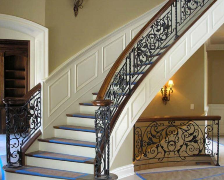 Barandales de herrer a para escaleras en monterrey madera acero cristal aluminio - Escaleras de casas de lujo ...