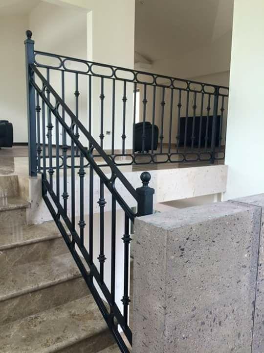 Barandales de herrer a para escaleras en monterrey madera acero cristal aluminio - Barandales de escaleras ...