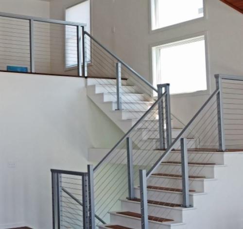 barandales de aluminio para escaleras modernos