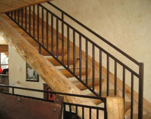 hierro forjado para barandales de escalera sencillos