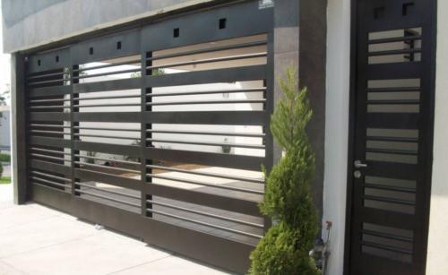 puertas automaticas corredizas de herreria para cochera cochera