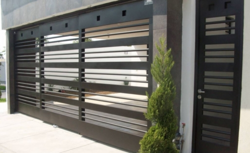 Portones de herrer a en monterrey el ctricos modernos for Puertas corredizas de metal