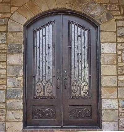 puertas de forja con vidrio en monterrey