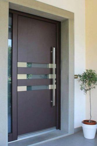 puertas modernas con vidrio y madera minimalista en monterrey