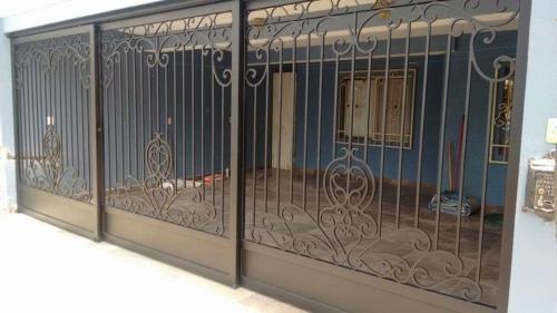 reja electrica de forja corrediza para residencia en monterrey